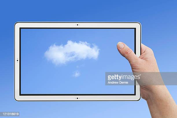tablet pc - andrew dernie stock pictures, royalty-free photos & images