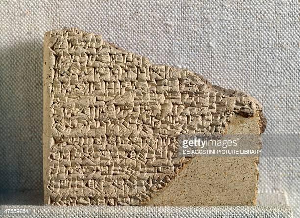 Tablet with cuneiform script predicting the birth of Sargon terracotta SumerianAkkadian civilisation First Babylonian Dynasty Paris Musée Du Louvre