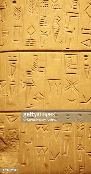 Tablet with land purchase details Mesopotamia about 24002200BC The tablet lists purchases of land by a man named Tupsikka with payments made in...