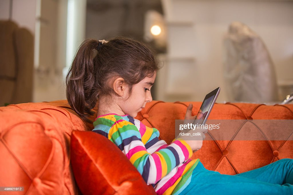 Tablets child play : Stock Photo