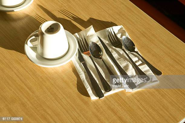 Tableware in a Diner