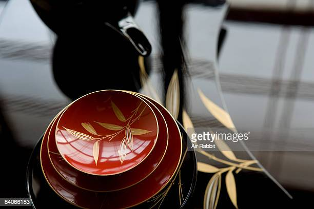 Tableware of lacquer in Japan , lacquer