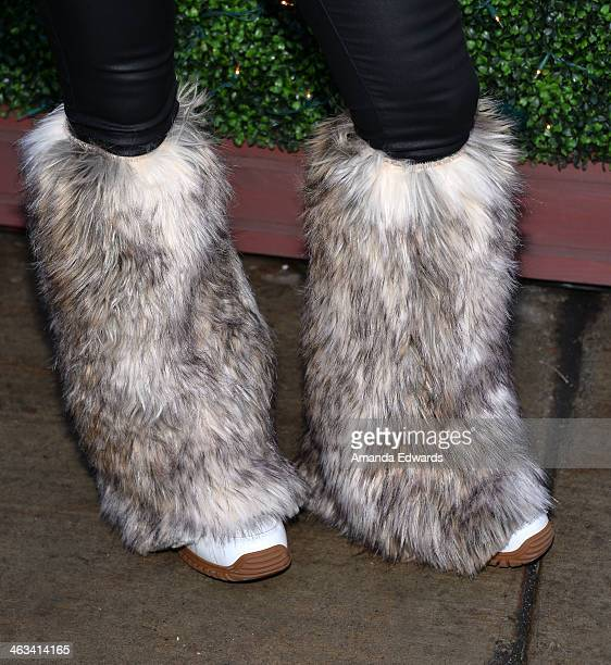 Tabloid editor Adriane Schwartz wearing Ugg Boots is seen at the 2014 Film Festival on January 17 2014 on the streets of Park City Utah
