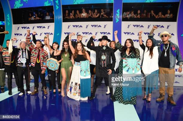 Taboo and guests attend the 2017 MTV Video Music Awards at The Forum on August 27 2017 in Inglewood California