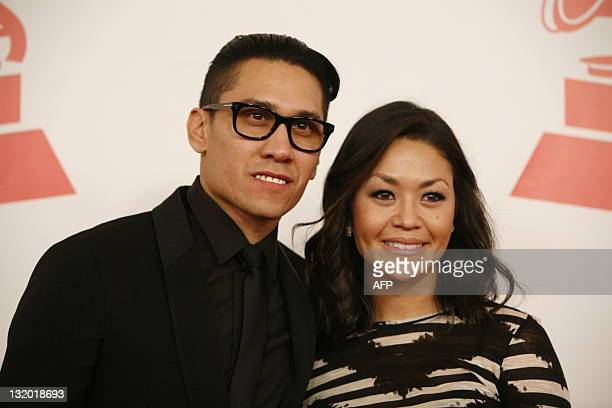 Taboo and his wife Jaymie Dizon arrive at the 2011 Latin Recording Academy Person of the Year concert and celebration honoring Colombian singer...