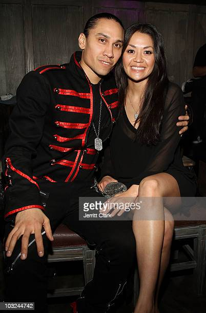 Taboo and wife Jaymie Dizon attend the Black Eyed Peas after party at Avenue on August 4 2010 in New York City