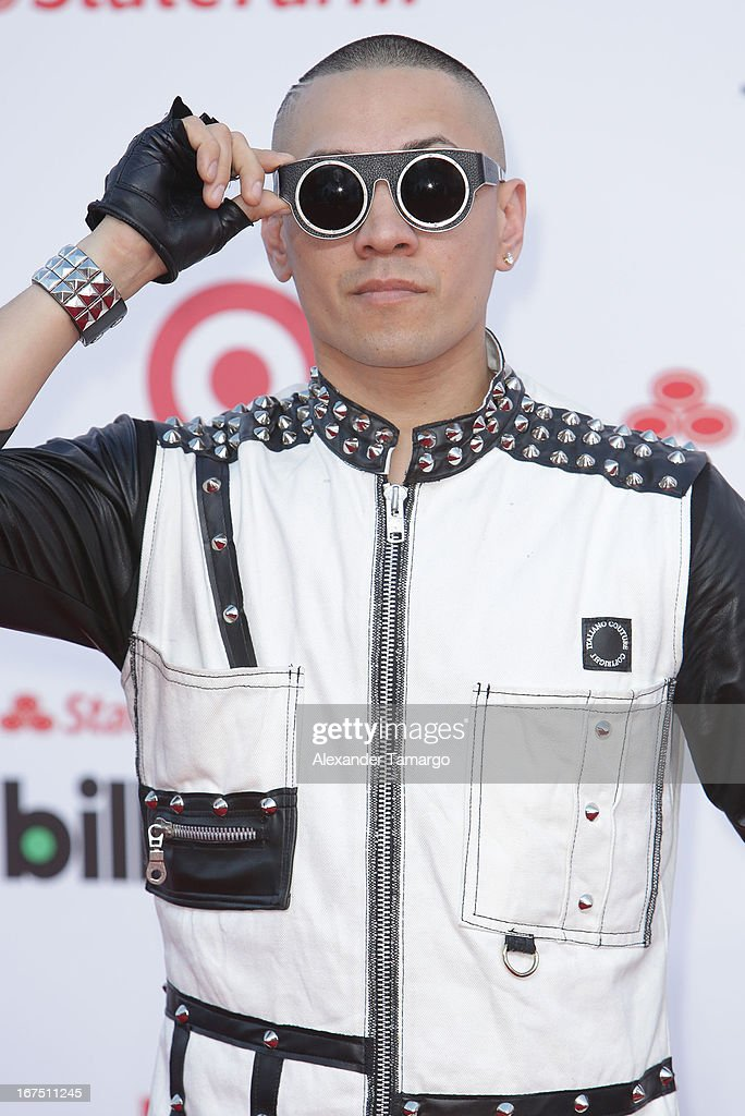 Taboo arrives at Billboard Latin Music Awards 2013 at Bank United Center on April 25, 2013 in Miami, Florida.