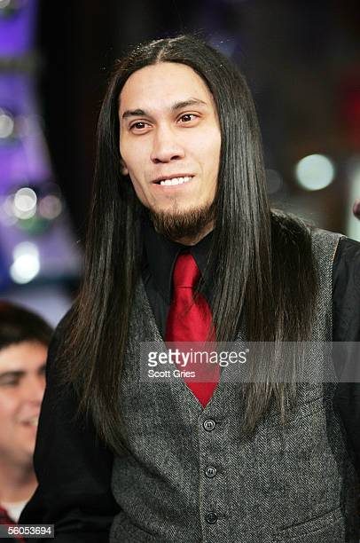 Taboo of the Black Eye Peas appears onstage during MTV's Total Request Live at the MTV Times Square Studios on November 1 2005 in New York City