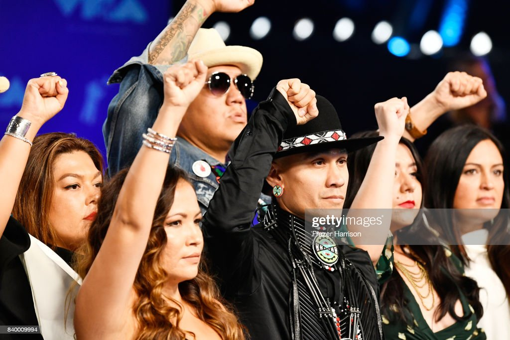 Taboo of The Black Eyed Peas (C) attends the 2017 MTV Video Music Awards at The Forum on August 27, 2017 in Inglewood, California.