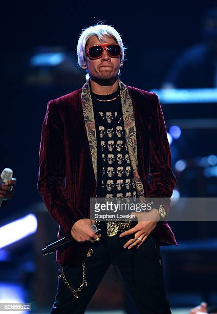 Taboo of the Black Eyed Peas performs on stage during the Conde Nast Media Group's Fifth Annual Fashion Rocks at Radio City Music Hall on September 5...
