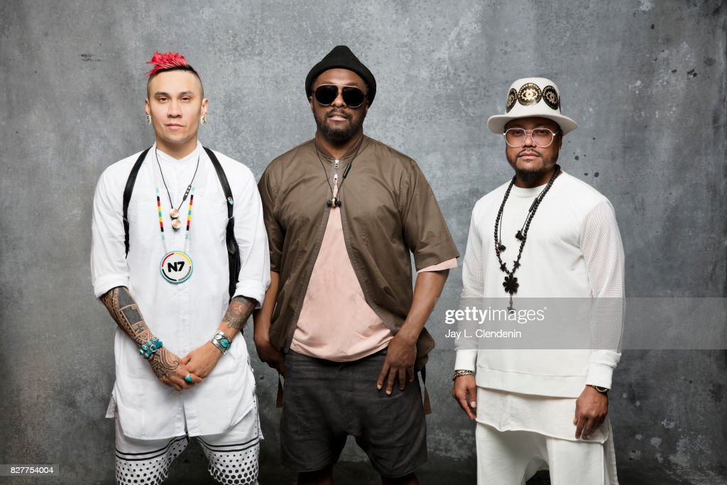 Taboo, Will.I.Am, and apl.de.ap of The Black Eyed Peas, are photographed in the L.A. Times photo studio at Comic-Con 2017, in San Diego, CA on July 21, 2017.