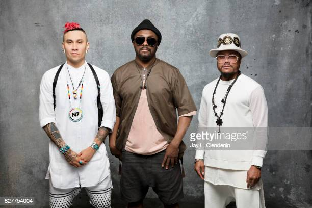 Taboo WillIAm and apldeap of The Black Eyed Peas are photographed in the LA Times photo studio at ComicCon 2017 in San Diego CA on July 21 2017...