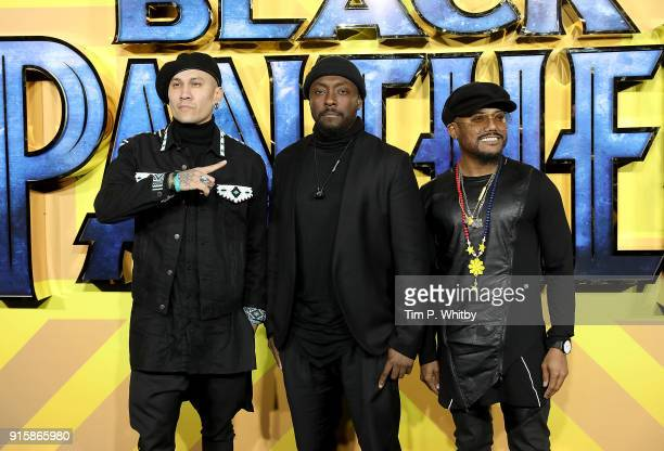 Taboo william and apldeap of The Black Eyed Peas attend the European Premiere of 'Black Panther' at Eventim Apollo on February 8 2018 in London...