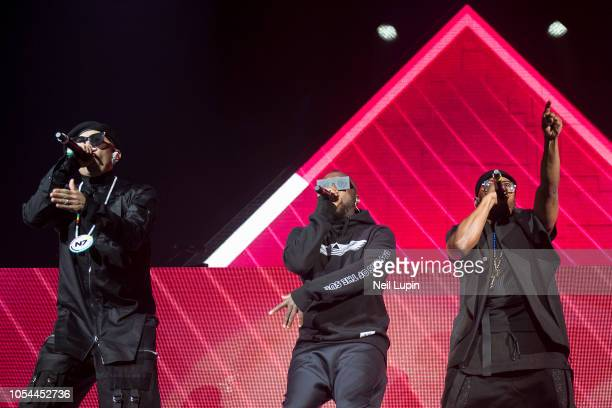 Taboo william and apldeap of the Black Eyed Peas perform on stage at the Eventim Hammersmith Apollo on October 27 2018 in London England