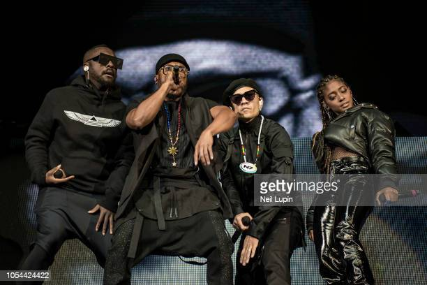 Taboo william apldeap and Jessica Reynoso of the Black Eyed Peas perform on stage at the Hammersmith Eventim Apollo on October 27 2018 in London...