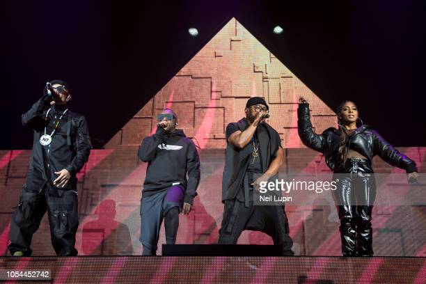 Taboo william apldeap and Jessica Reynoso of the Black Eyed Peas perform on stage at the Eventim Hammersmith Apollo on October 27 2018 in London...