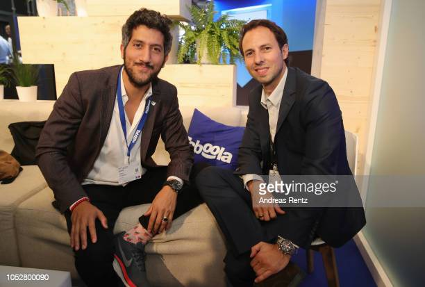 Taboola founder and chief executive Adam Singolda and Stefan Betzold Managing Director Digital Bild Group attend the Digital Marketing Expo...