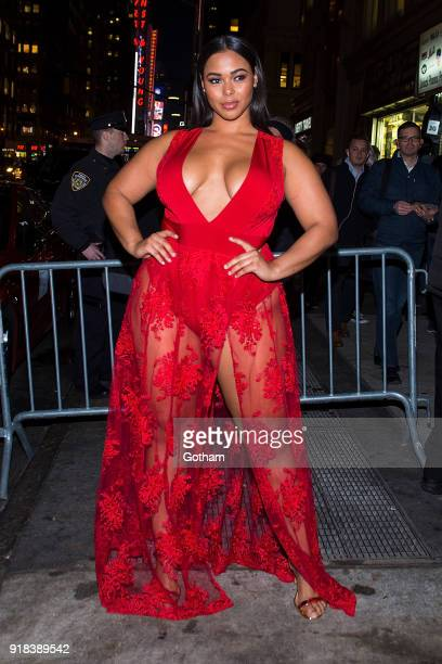 Tabria Majors attends the Sports Illustrated Swimsuit 2018 launch event at the Moxie Hotel on February 14 2018 in New York City