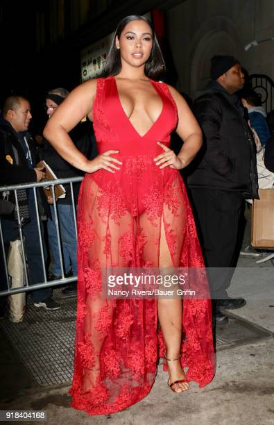 Tabria Majors is seen on February 14 2018 in New York City