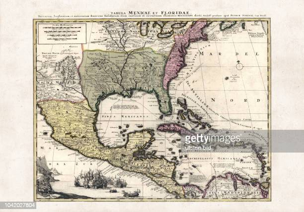 terrarum Anglicarum et anteriorum Americae insularum item cursuum et circuituum fluminis Mississipi dicti Karte von Mexico und Florida das Gebiet der...