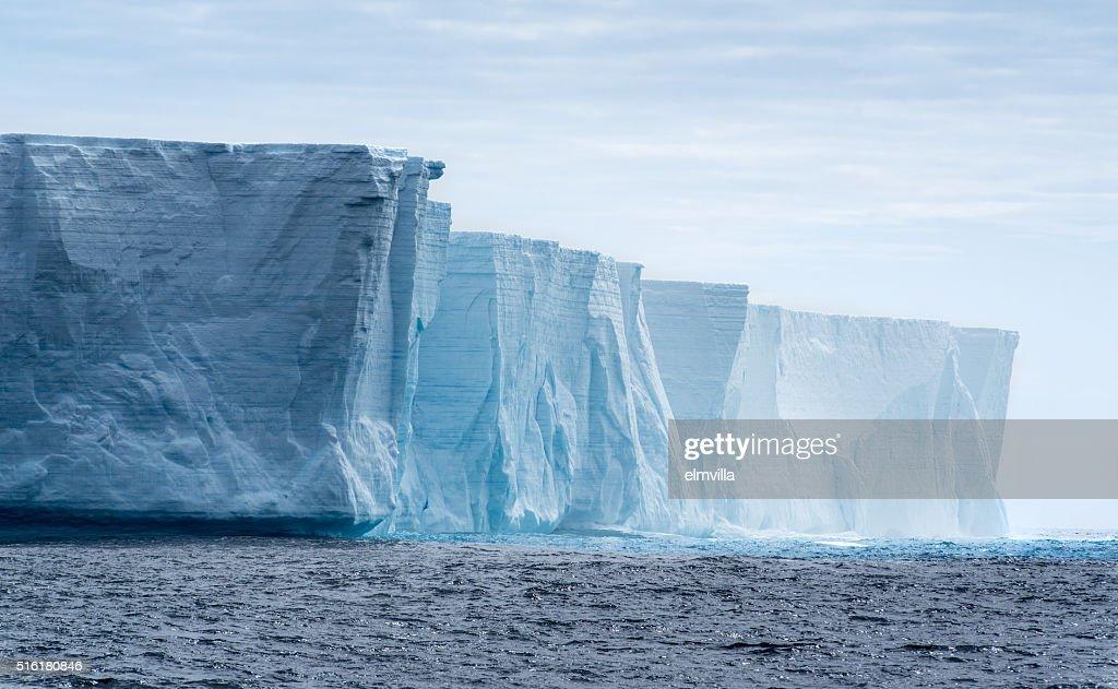 Tabular iceberg in Antarctica : Stock Photo