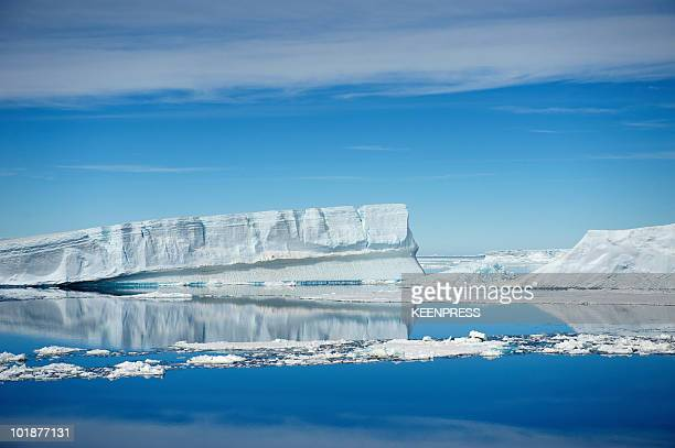 tabular iceberg in the weddell sea - weddell sea stock photos and pictures