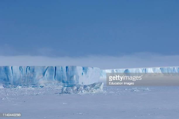 Tabular icebergs stuck in the fast ice around Snow Hill Island Weddell Sea Antarctica