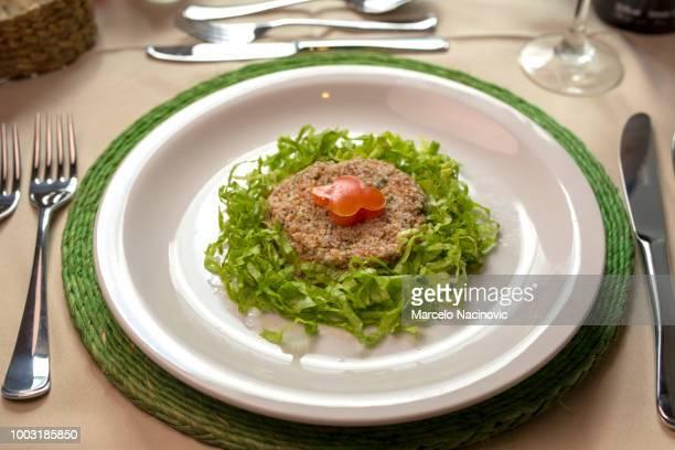 Tabule with lettuce