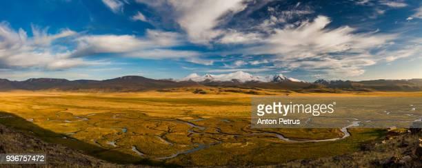 tabyn-bogdo-ola mountain, plateau ukok, altai mountains, siberia, russia - summits russia 2015 stock pictures, royalty-free photos & images