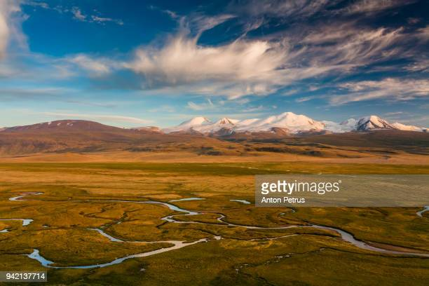 tabyn-bogdo-ola mountain, plateau ukok, altai mountains, siberia, russia - independent mongolia stock pictures, royalty-free photos & images