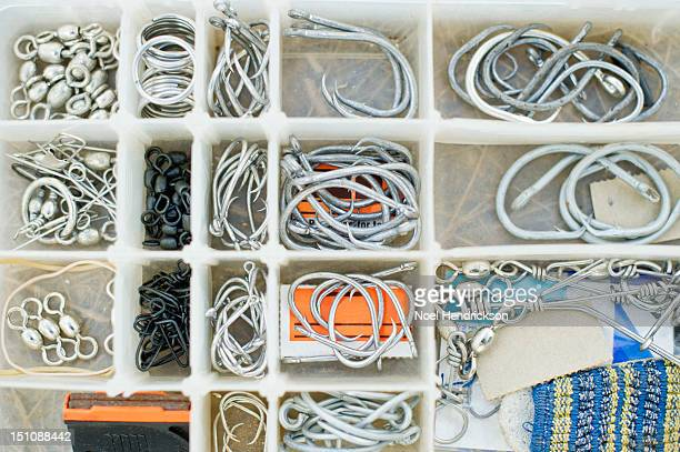 A tackle box full of fishing accessories