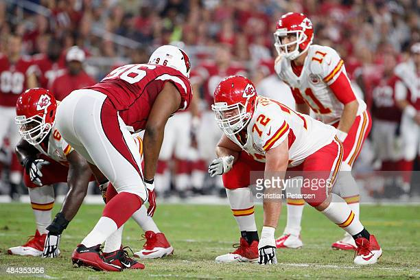 Tackle Eric Fisher of the Kansas City Chiefs in action during the preseason NFL game against the Arizona Cardinals at the University of Phoenix...