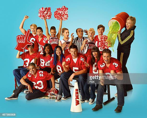 """Tackles Michael Jackson's """"Thriller"""" on Sunday, Feb. 6 on FOX. Pictured top row L-R: Chord Overstreet, Harry Shum Jr., Naya Rivera, Dianna Agron,..."""