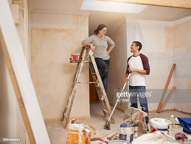 Tackling their home renovations as a team