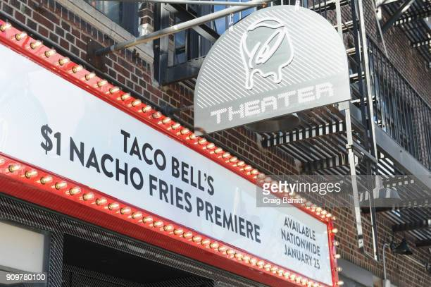 Taco Bell's $1 Nacho Fries Premiere on January 24 2018 in New York City