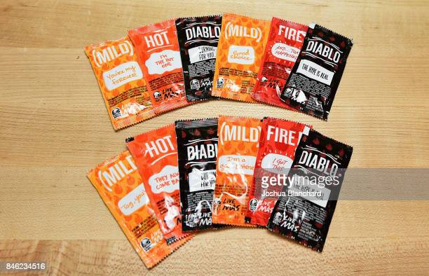 Taco Bell's iconic sauce packets.