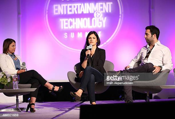 Taco Bell's Tressie Lieberman Tumblr's Sima Sistani and Tinder's Justin Mateen attend Variety's Spring 2014 Entertainment and Technology Summit at...