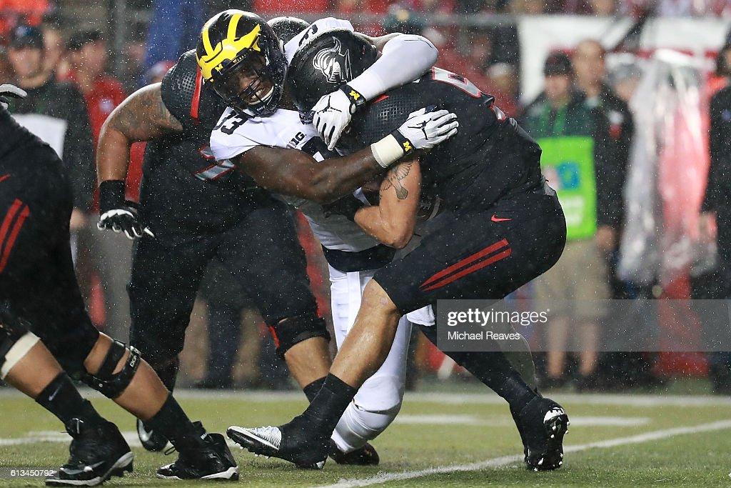 Michigan v Rutgers : News Photo