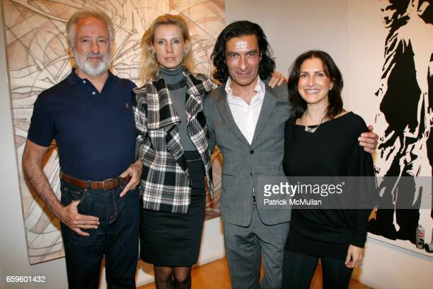 Taco Escandon Isabelle Peeters Eric Allouche and Kim Allouche attend Opening night of Nimbus Vapor at OPERA GALLERY at Opera Gallery on October 1...