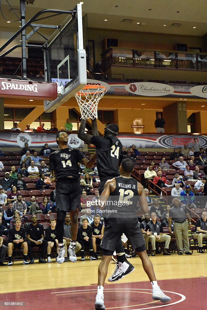 Taco Fall #24 of the UCF Knightsduring the UCF Knights 60-40 victory over the College of Charleston Cougars in the second round of the Charleston Classic on November 18, 2016, at TD Arena in Charleston, SC.