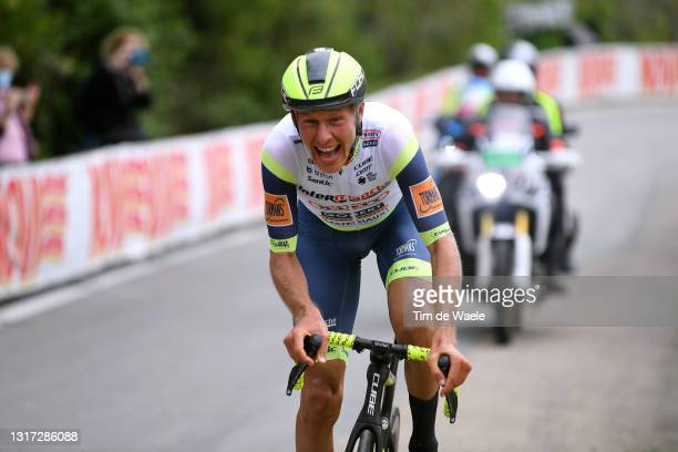 Taco Van Der Hoorn of Netherlands and Team Intermarché - Wanty - Gobert Matériaux on breakaway during the 104th Giro d'Italia 2021, Stage 3 a 190km...