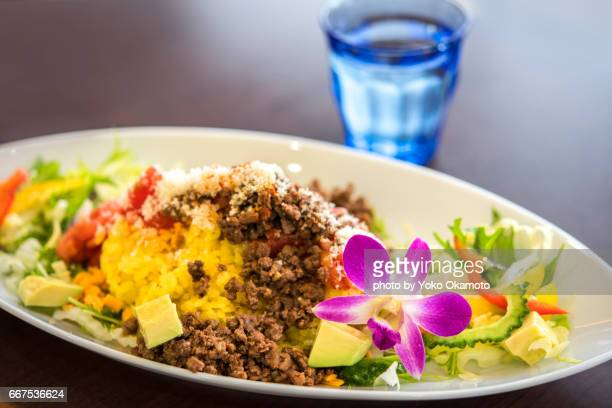 Taco-rice(Okinawa cuisine)