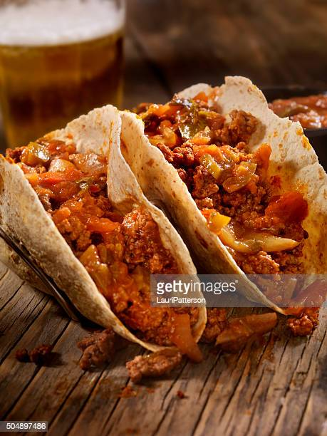 Tacos With Salsa and a Beer