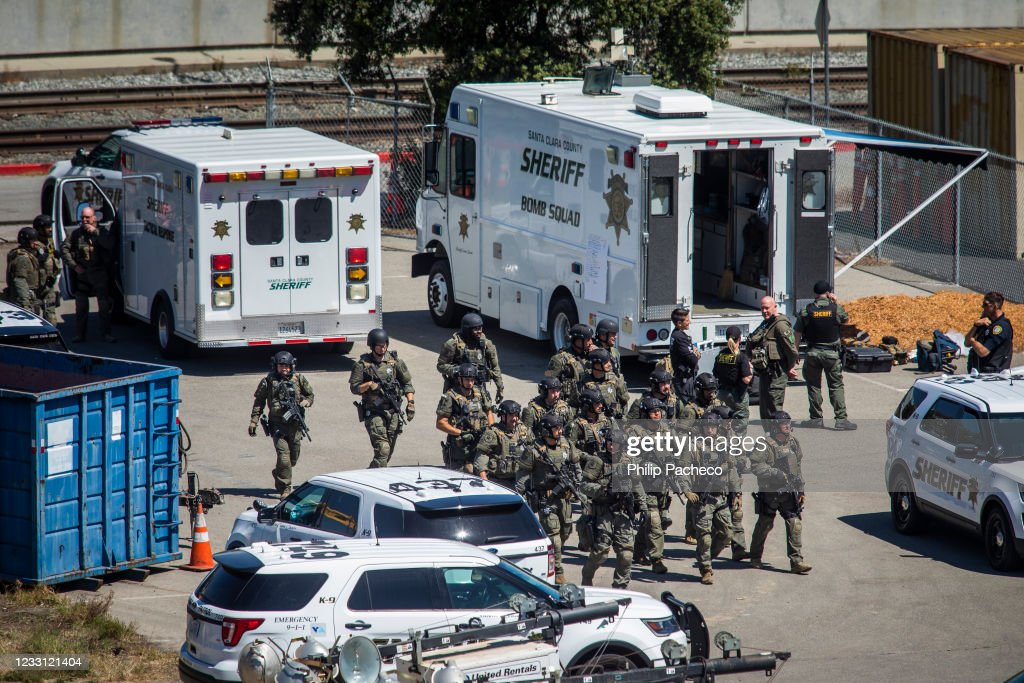 Several People Reportedly Shot At Light Rail Yard In San Jose, CA : News Photo