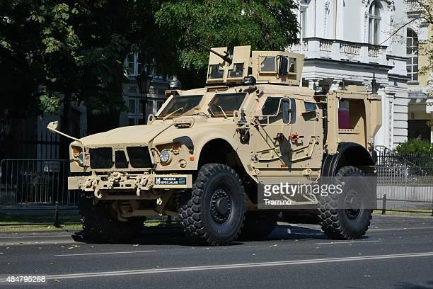tactical vehicle oshkosh m-atv mrap on the street - mine resistant ambush protected stock pictures, royalty-free photos & images