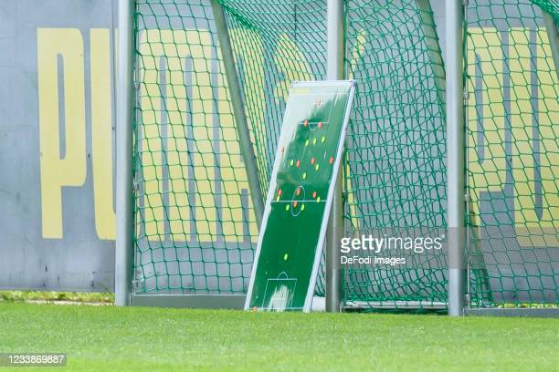 Tactics board during the training session of Borussia Dortmund on July 8, 2021 in Dortmund, Germany.