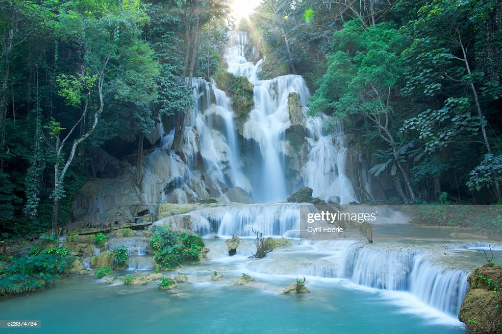 Tad Kuang Si waterfall : Stock Photo