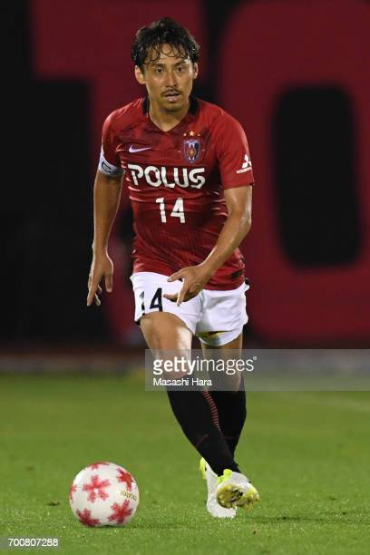 Tadaaki Hirakawa of Urawa Red Diamonds in action during the 97th Emperor's Cup second round match between Urawa Red Diamonds and Gurlla Morioka at...