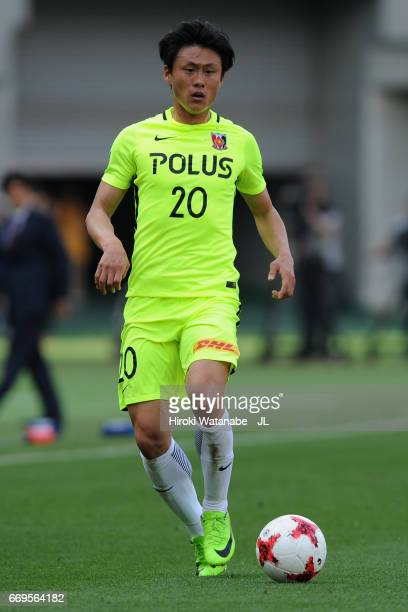 Tadanari Lee of Urawa Red Diamonds in action during the J.League J1 match between FC Tokyo and Urawa Red Diamonds at Ajinomoto Stadium on April 16,...