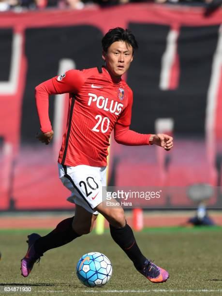 Tadanari Lee of Urawa Red Diamonds in action during the preseason friendly between Urawa Red Diamonds and FC Seoul at Urawa Komaba Stadium on...